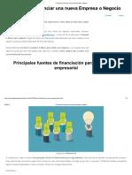 11 Formas de Financiar Una Nueva Empresa o Negocio