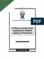 VI Pleno Jurisdiccional Supremo Laboral sobre transacciones