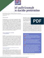 Utilidad Del Palivizumab en El ReciŁn Nacido PretŁrmino