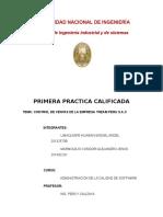 1era PC Calidad de Software - Resortes LANSA - Chavez, Acuña y Huerta