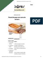 Pastel de Papa Con Carne de Ternero _ Sabores en Línea