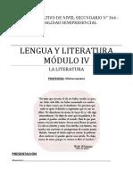 CENS 364 - Lengua y Literatura Módulo IV - La Literatura