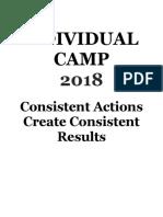 sample individual camp 2018