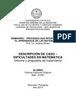 Intervencion en Matematicas - Final Seminario