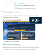 1. Get Free Access to SAP HANA Cloud Platform
