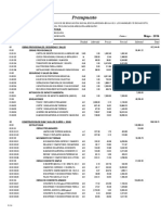 02.01 Presupuesto Infraestructura