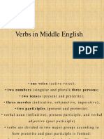 Verbs in Middle English
