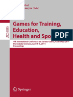 Games for training educationn health and sport