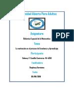 Didactica Especial de La Matematica V