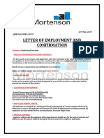 "Pseudo Mortenson ""Letter of employment and confirmation"" SCAM ALERT ESTAFA"