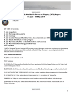 U.S. Navy Office of Naval Intelligence Worldwide Threat to Shipping (WTS) Report 17 April - 22 May 2019
