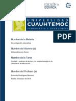 Actividad 1.1 La Epistemología en La Ciencia de La Educación.