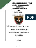 Derechos Humanos Aplicados a La Funcion Policial
