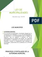 Diapositivas Ley de Municipalidades