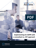 Implementing EU GDPR With a Consultant vs DIY Approach En