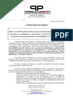 CP PP 27032019 - Arrêté d'Inttotoerdiction de Manifester Samedi 30 Mars 2019