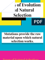 types of evolution and natural selection