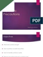 Cytotoxic Precautions