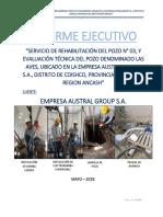 1.- Informe Ejecutivo - Rehabilitación de Pozo
