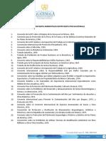 Vonvenios Internacionales de Guatemala Medio Ambiente