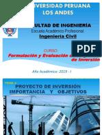 El Proyecto de Inversión Importancia y Objetivos