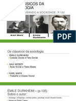 Apesentação - Os Classicos Da Sociologia