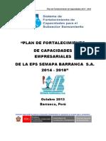 Plan Pfc 2014-2018 Semapa Barranca s.A