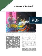Una Primera Vez en La Noche Del Río - Actividad El Heraldo - María Romero