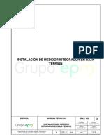 RA4-100 Instalacion de Medidor Integrador en Baja Tension