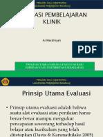 Evaluasi Pembelajaran Klinik