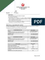 Costos y Presupuestos Examen Parcial 2016-0