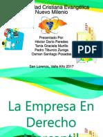 Presentacion Empresa en Derecho Mercantil Dario Paredes