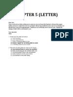 Chapter 5 Letter 2
