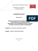 Análisis Del Presupuesto -MINSA 2018-Jean Liberato Piñan