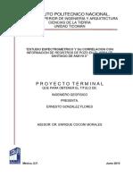 Estudio Espectrométrico y Su Correlación Con Información de Registros de Pozo en El Área de Santiago de Anaya II