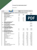 presupuesto analitico desconsolidado