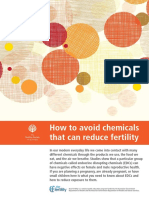 How to Avoid Chemicals That Can Reduce Fertility