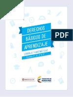 Derechos Basicos de Aprendizaje Lenguaje y Matematicas