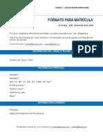 Ficha de Inscripción - Uciency