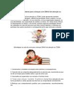 20 Estratégias Escolares Para Crianças Com Déficit de Atenção Ou TDAH