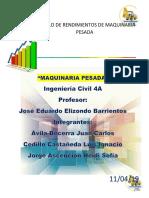 COSTOS MAQUINARIA PESADA