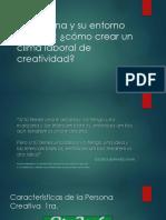La Persona y Su Entorno Creativo