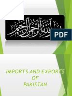 Import and export of pakistan