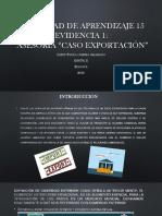 Actividad de Aprendizaje 15 Evidencia 1CASO EXPORTACION