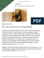 La Historia de Job_ NoRenunció a Su Integridad