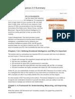 Emotional Intelligence 20 Summary