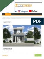 Plano de Casa Con 5 Metros de Frente - Planos de Casas, Modelos de Casas e Mansiones e Fachadas de Casas