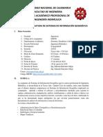 Silabo 2019-I_Sistemas de Información Geográfica
