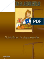 Alimentacion en Epoca Escolar