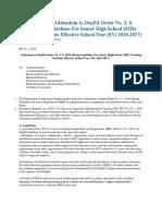 Hiring Guidelines for Senior High School